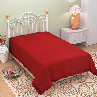 Azaani Antipill Red Single Bed Ac Blanket
