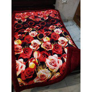 Style Maniac Single Bed Super Warm Heavy Winter Quilt With Super Soft (rabbit Feel) Coral Back Side...