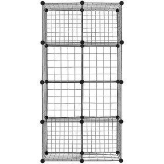 8 Cube Iron Storage Cabinet Drawer Shelf Organizers