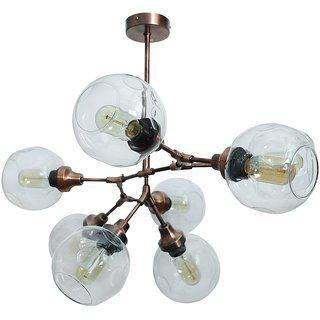 Fos Lighting Branching 8 Light Antique Copper Chandelier