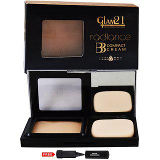 Glam21 Bb Compact Cream Foundation-cp7001-01 With Adbeni Kajal Worth Rs.125/