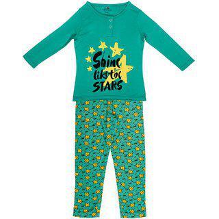 Ventra Girls Green Star Nightwear