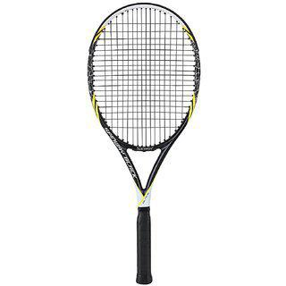 Spinway Black Lawn Tennis Racket With Full Cover Bag