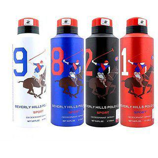 Beverly Hills Polo Club Deodorant Combos 4 Pcs. Combo Offer (175mlx2)