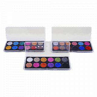 12 Colors Professional Glitter Eye Shadow Pressed Power Pack Of 03