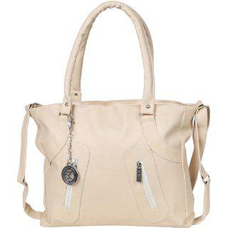 Styler King 2ZipWoman Shoulder Bag (Cream)