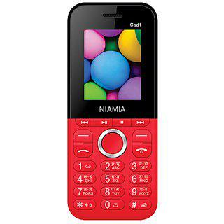 Niamia Cad 1 Red Basic Keypad Feature Mobile Phone