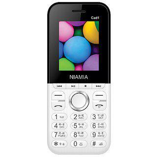 Niamia Cad 1 White Basic Keypad Feature Mobile Phone