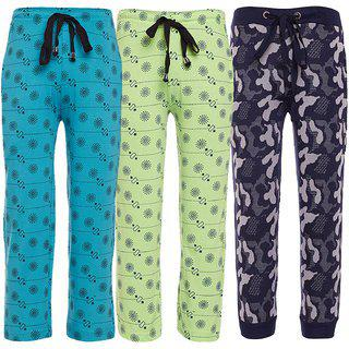 Vimal Jonney Multicolor Cotton Trackpants For Boys(pack Of 3)