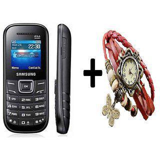 Refurbished Samsung Guru E1200 With (6 Months Warranty Bazaar Warranty ) plus women Watch