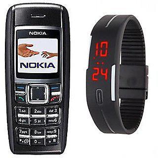 Refurbished Nokia1600 With Digital Watch (6 Months Warranty By Warranty Bazaar)