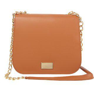 Bagstopia Chic Tan Sling Bag