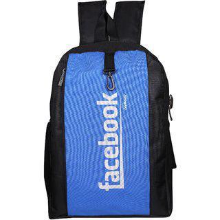 Leerooy Nylon 23 Ltr Blue College Bag Backpack For Unisex