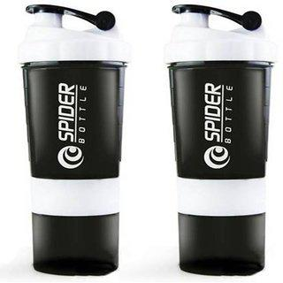 Spider Combo Of Pr 500 Shaker (pack Of 2 White)