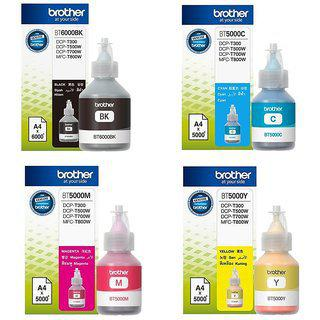 Brother Bt5000 Bt6000bk Genuine Ink Bottles Colour For Brother T300 T500 T700w T800w Printers