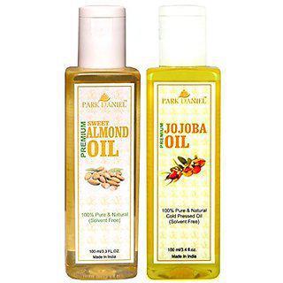 Park Daniel Premium Sweet Almond Oil And Jojoba Oil Combo Pack Of 2 Bottles Of 100 Ml(200 Ml)