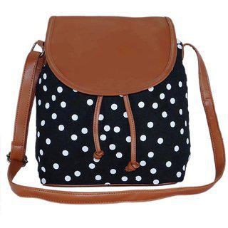 Suprino Casual, Stylish, Latest Synthetic Sling Bag For Girls & Women, Best For Teens College, Office, Outing, Shopping And For Daily Travel Available In Black Color.