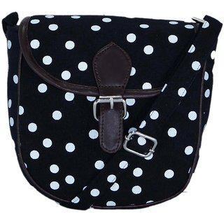 Suprino Black Sling Bag