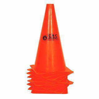 Sas Field Marker Cones For Match Practice Training Set Of 10 Durable And Water Proof Marker Cones (15 Inch)