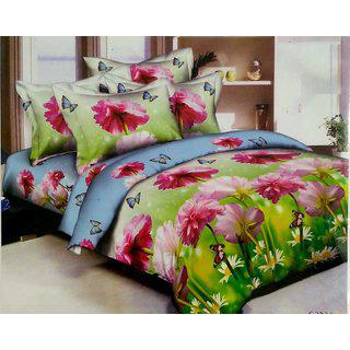 Stylla Double Bed Sheet With 2 Pillow Covers