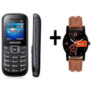 Refurbished Samsung Guru E1200 With (1 Year Warranty Bazaar Warranty ) plus men Watch