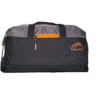 Trekkers Need Unisex Full Size Polyester Duffle Gym Bag (black & Grey) Waterproof Shoulder Bag(multicolor, 12 Inch)