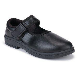 Bersache Girls Strap Derby Shoes(Black)