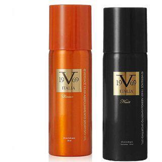 Versace 19v69 Nuit And Romance Deodorant Spray - For Men Women (150 Ml Each Pack Of 2)