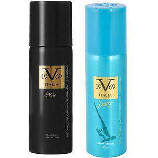 Versace 19v69 Nuit And Dare Deodorant Spray - For Men Women (150 Ml Each Pack Of 2)