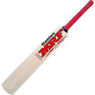 Mrf Genius Virat Kohli Kashmir Willow Cricket Bat (1.100-1.200 Kg) (color May Vary)