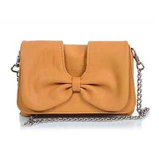 Butterflies Womens Designer Yellow Color Clutch Bns 2173