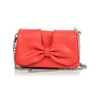 Butterflies Womens Designer Red Color Clutch Bns 2169
