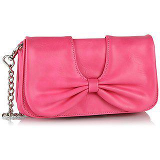 Butterflies Womens Designer Pink Color Clutch Bns 2221