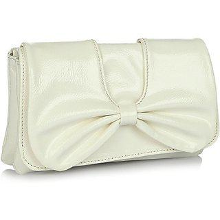 Butterflies Womens Designer Cream Color Clutch Bns 2193wc