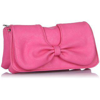 Butterflies Womens Designer Pink Color Clutch Bns 2221wc