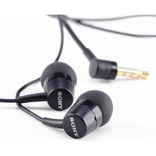 Sony 750 Stereo Black Earphone Handsfree With Mic And 3.5 Mm Jack