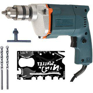 Tiger 10 Mm Electric Drill Machine With Ninja Wallet plus 2 Masonry Bits