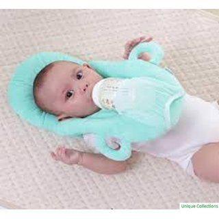 Apna Unique Collection Blue-colour Cotton Neck Supporter (horse-shoe) Baby Pillow (pack Of 1)