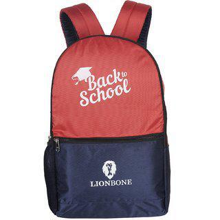 Lionbone 32 Ltrs School Bag - Red & Blue