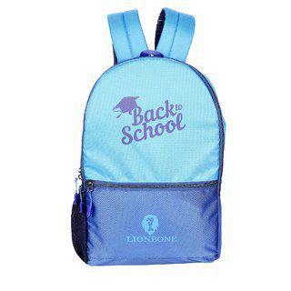 Lionbone Bag Unisex Boys Girls Backpack Polyester Back Bag With Trendy Design Book Bags, Color-royal Blue/navy