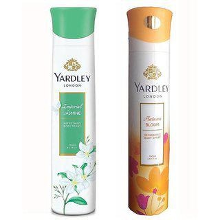 Yardley London Imperial Jasmine And Autumn Bloom Deodorant Body Spray - (150 Ml Each Pack Of 1)