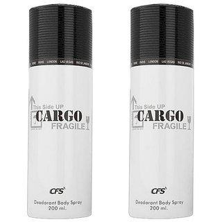 Cfs Cargo White Deodorant Body Spray 200ml Each Pack Of 2