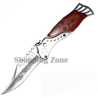 Prijam Knife Jb-097 Foldable Blade Sports Outdoor Knife With Torch For Camping Hiking