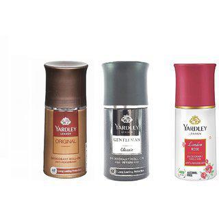 Yardley London Orignal Gentleman Classic London Rose Roll On Deodorant.50 Ml Each .pack Of 3