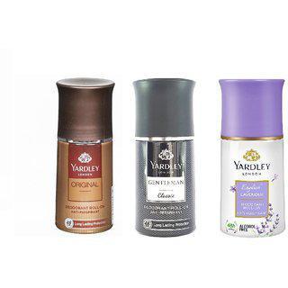 Yardley London Orignal Gentleman Classic English Lavender Roll On Deodorant.50 Ml Each.pack Of 3.