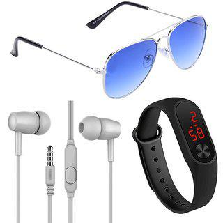 Adam Jones Aviator With Free Ear Phone(colour May Very) plus Led Watch Band