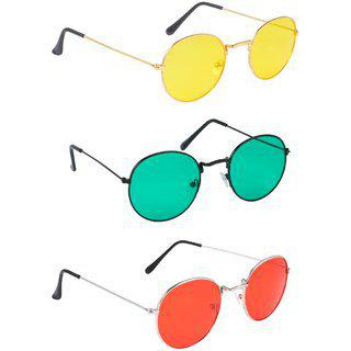 Thewhoop Combo New Colorful Round Sunglasses For Men And Women