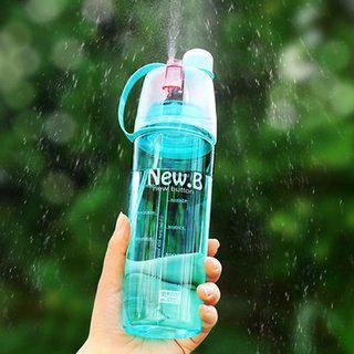 Tryviz Water Mist Plastic Spray Water Bottle Strong Plastic Good Quality New Designer Multi Colors 600 Ml 600 Bottle (pack Of 1 Green)