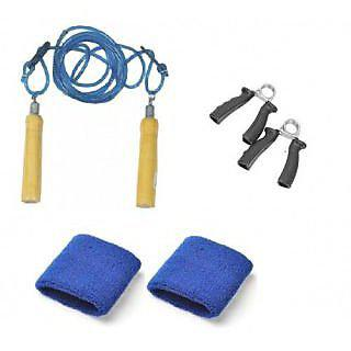 Body Maxx Fitness Kit Hand Grippers plus Rope plus Bands