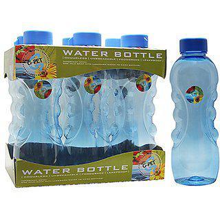 Gpet Fridge Water Bottle Daisy 1 Ltr Blue Set Of 6